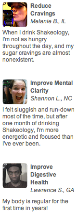 Reviews on Shakeology