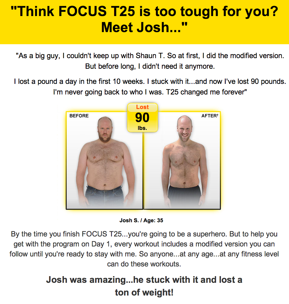 Shaun T Focus T25 Workout Review Results Before and After - Craig