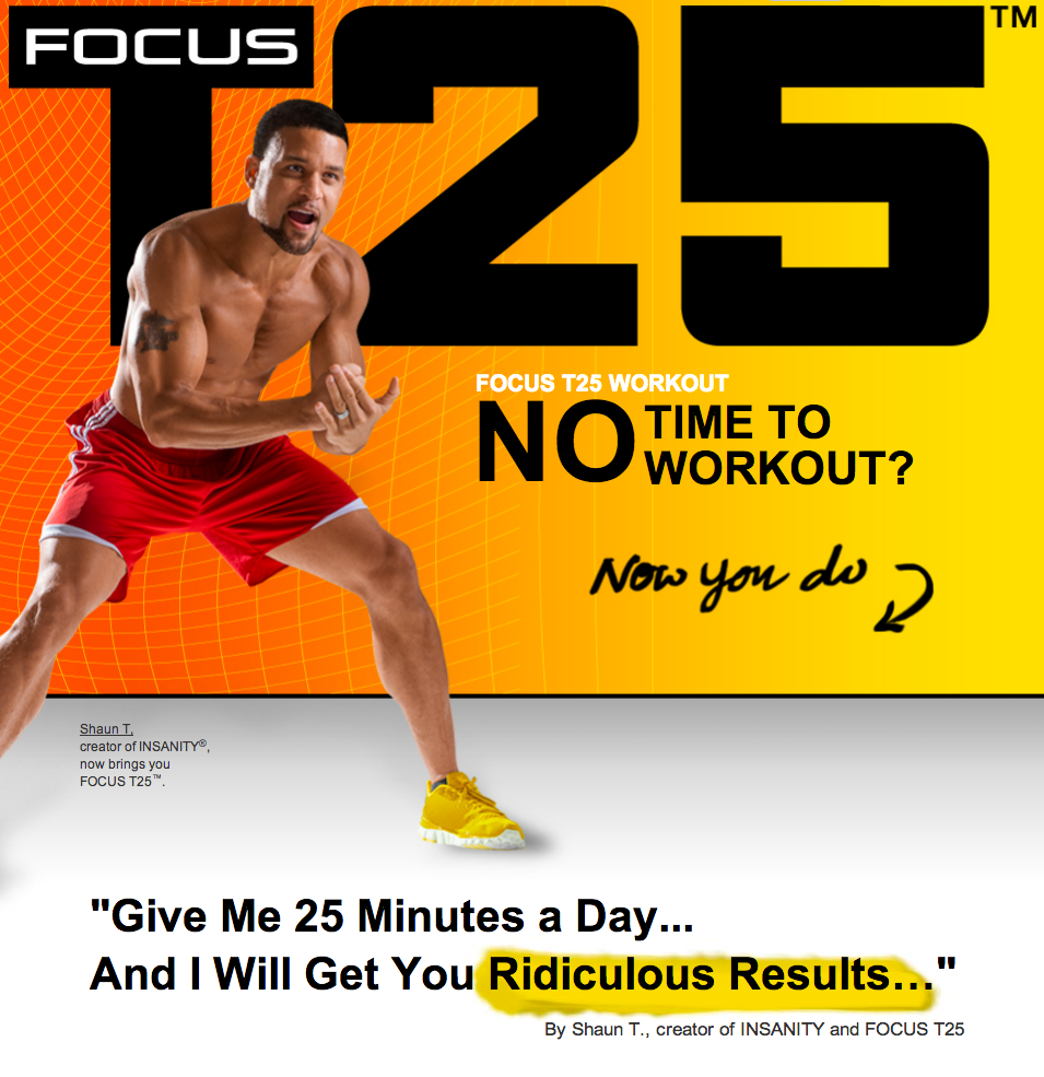 Shaun T Focus T25 Workout Review Results Before and After