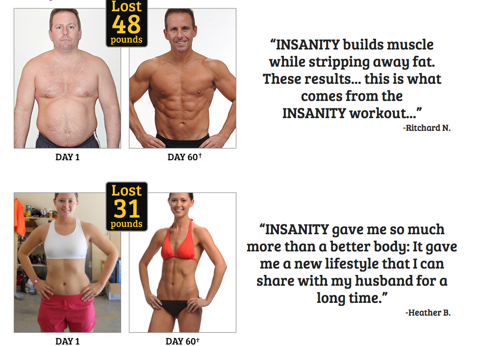 Insanity Workout Results